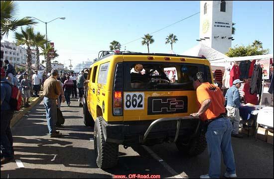 Hall H2 on contingency row in Ensenada