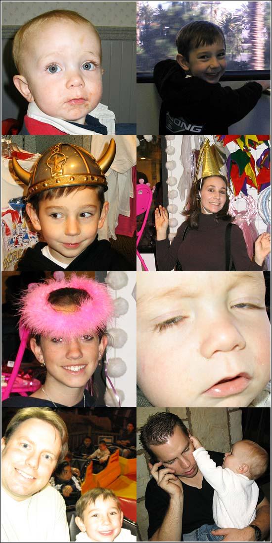 Pictures of Wilbur, Lisa, Sarah, Jake, Levi and Chris